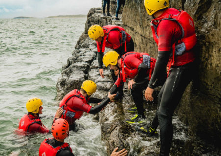 Overcoming challenges as a team on the Gower Peninsula South Wales